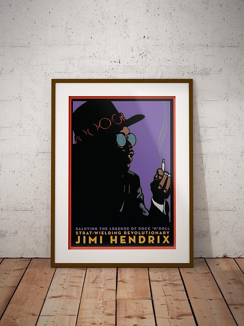 Jimi Hendrix-Framed