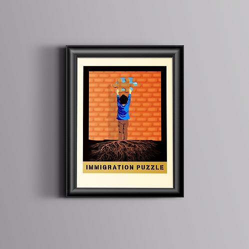Immigration Puzzle-Framed