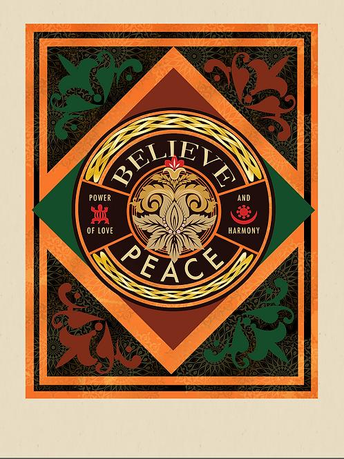 Believe, Peace Poster