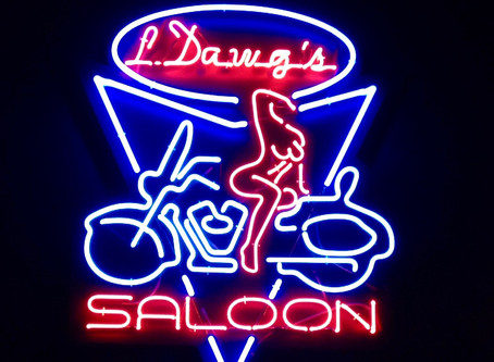 Anatomy of brand development:            The creation of a neon sign is intriguing and slightly mela