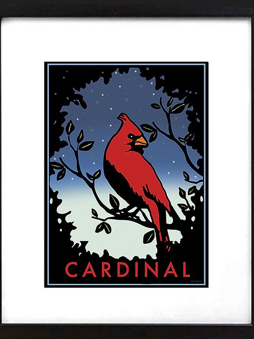 """Framed 11 x 14"""" Cardinal"""