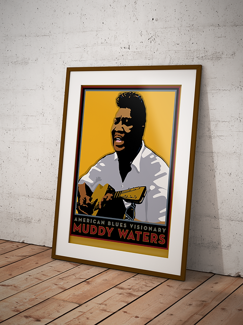Muddy Waters - Framed