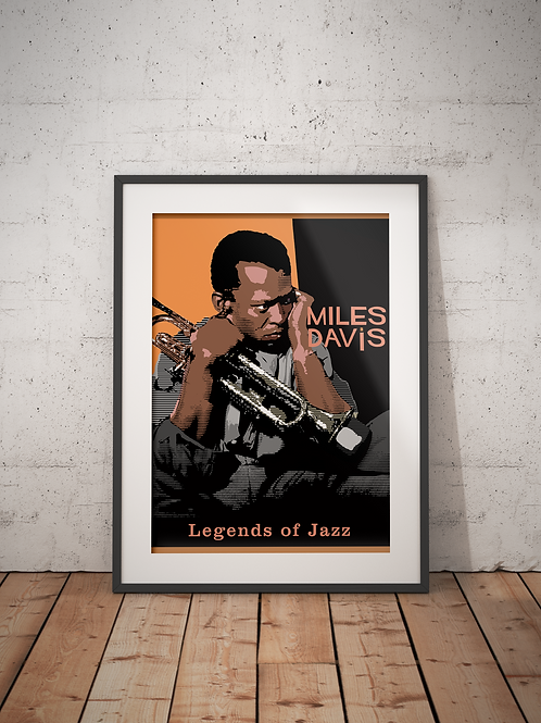Miles Davis-Framed