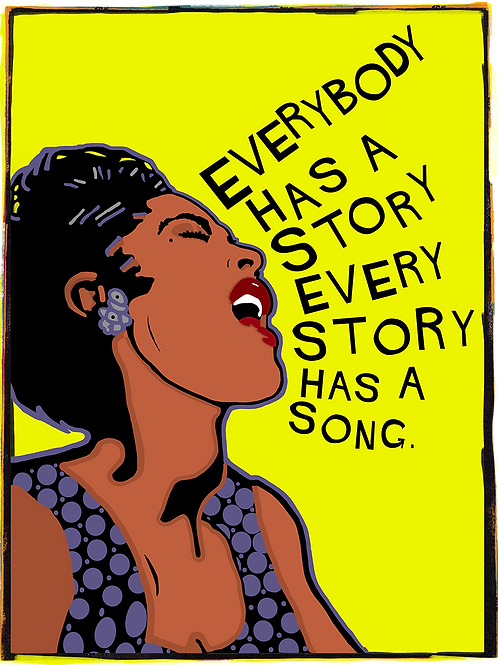 Every Story Has A Song, Art on Canvas