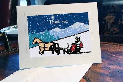 Magical Christmas Thank you Card