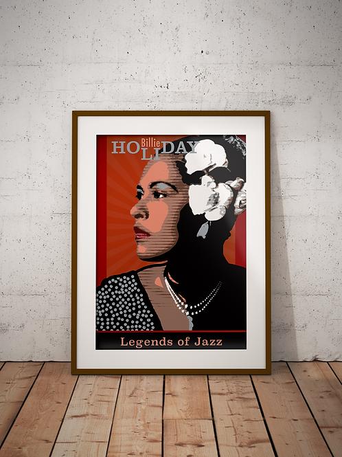 Billie Holiday-Framed