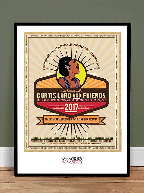 Curtis Lord and Friends Badge Style Poster