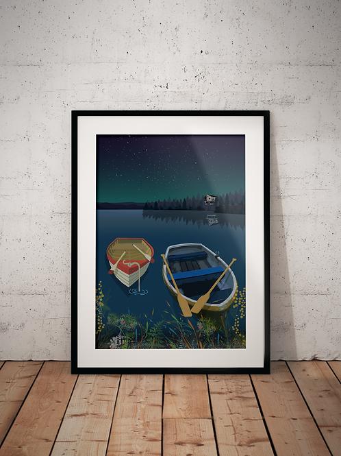 North Bar Lake-Framed