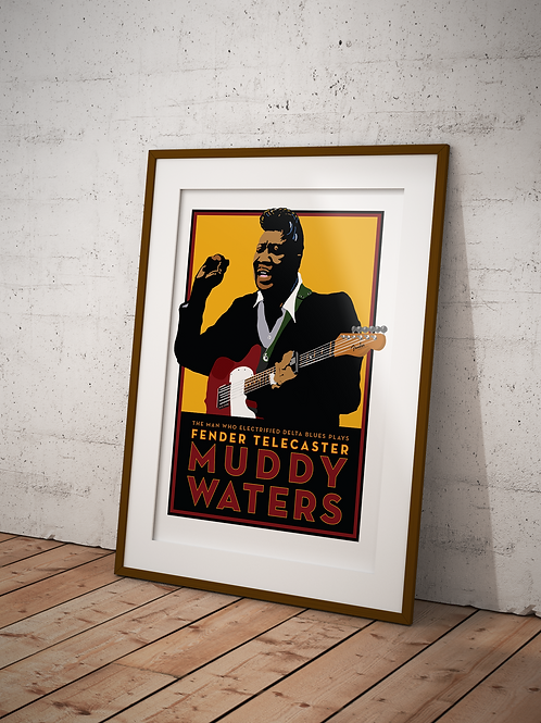 Muddy Waters Fender-Framed