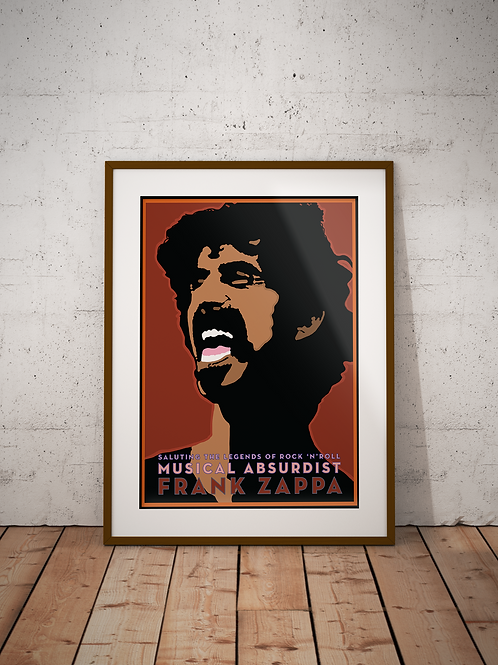 Frank Zappa Framed Poster