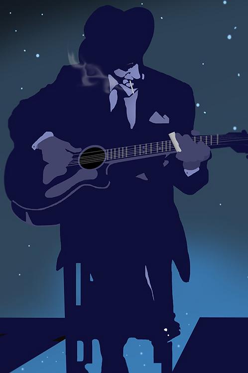 Evening Blues, Art on Canvas