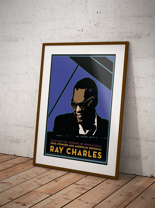 Ray Charles Framed Poster