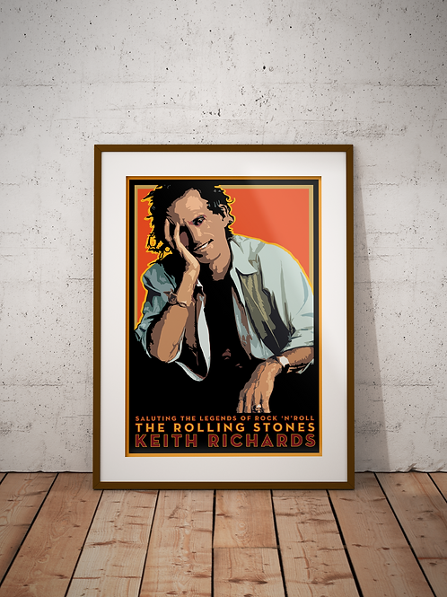 Keith Richards-Framed