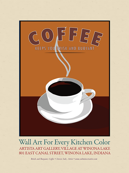 Coffee, promotional poster