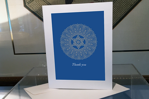 Hanukkah Thank you Card/Set of 10