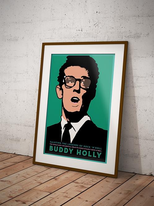 Buddy Holly-Framed