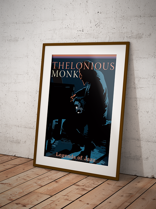 Thelonious Monk -Framed