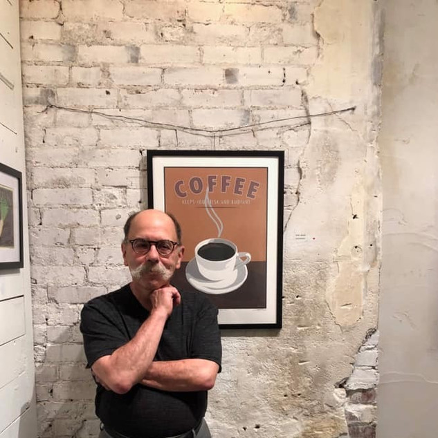 Steve Sult with Coffee Poster