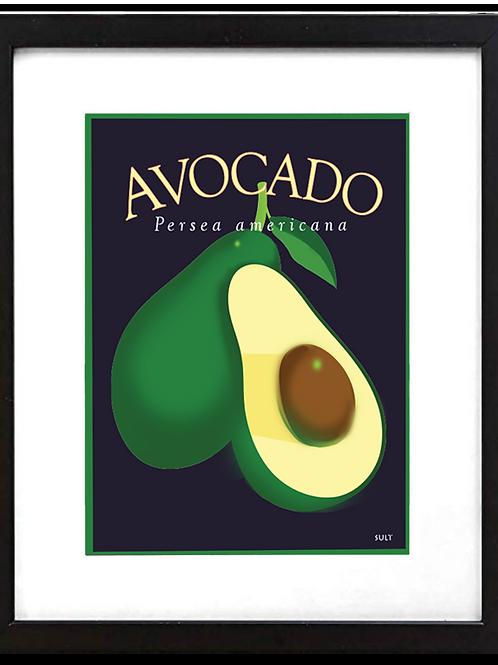 """Framed 11 x 14"""" Avocado Print"""