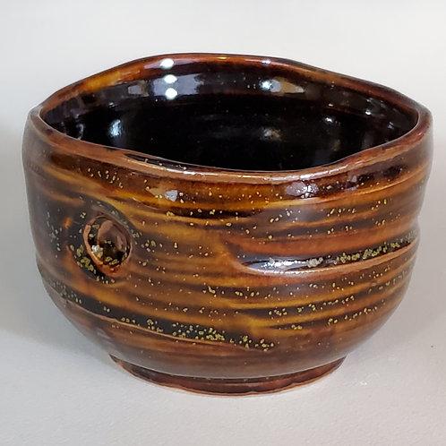 """3.5' x 3.5"""" Porcelain Tea Bowl with Currie Tea Dust glaze."""