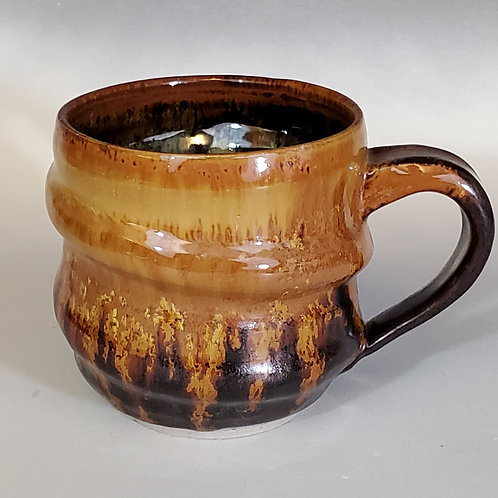"4"" x 4"" Porcelain Cup with Crystal matt glaze."