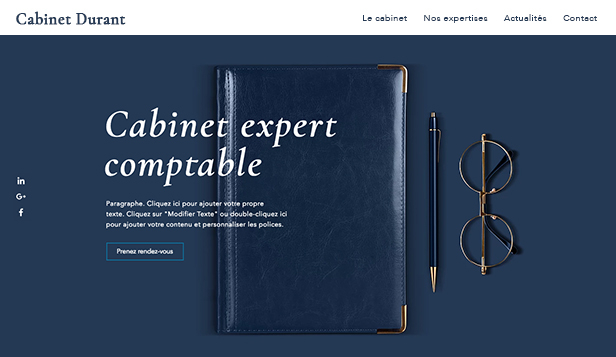 Droit et Finance website templates – Cabinet d'experts-comptables