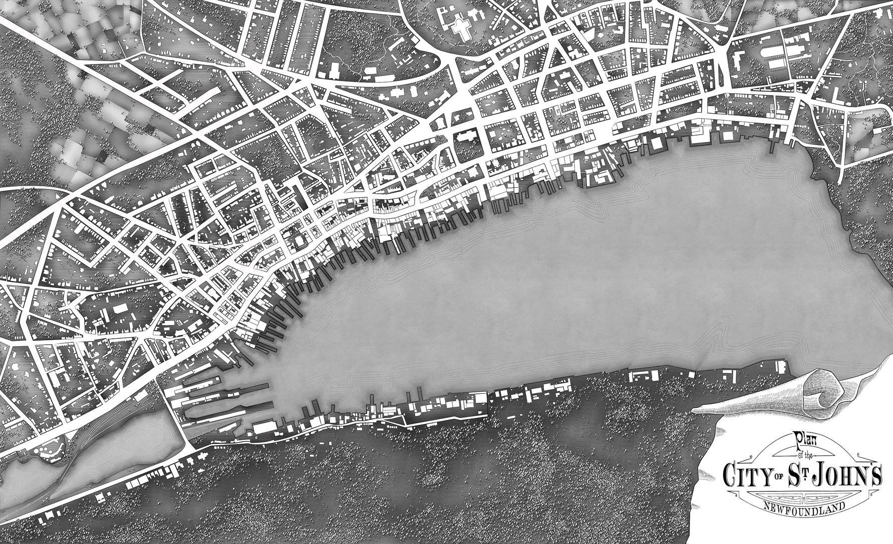 St. Johns city map