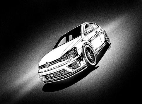 GolfR car illustration