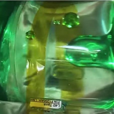 Propellant sloshing in spacecraft