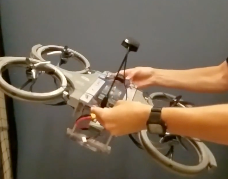 Discover our dual-axis tilting quadcopter