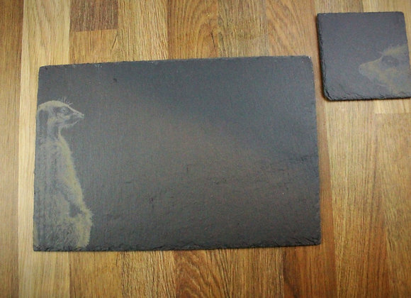 ARC Meerkat Slate Placemat and Coaster