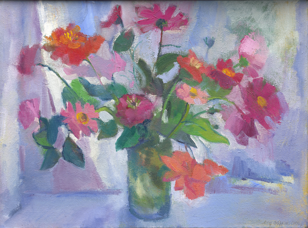 """Begonias, Cosmos and Zinnias"""