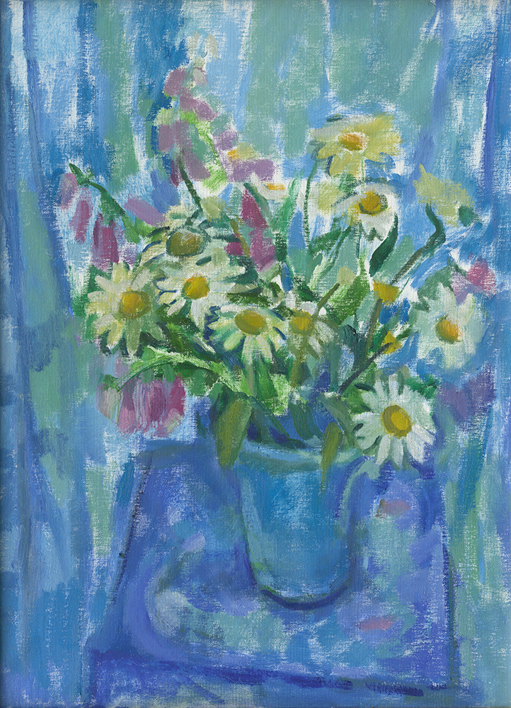 """Summer Flowers in Blue"""