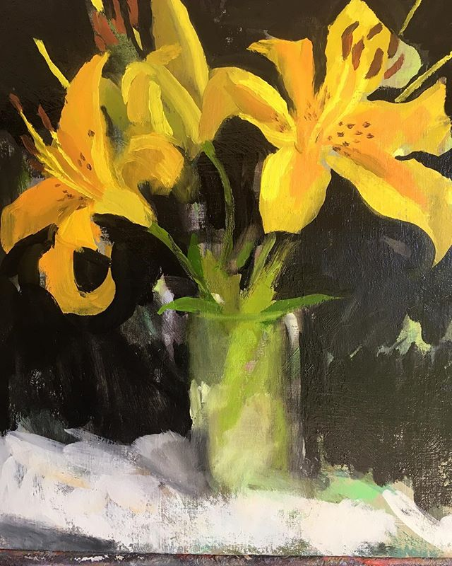 """Three Yellow Lilies"""