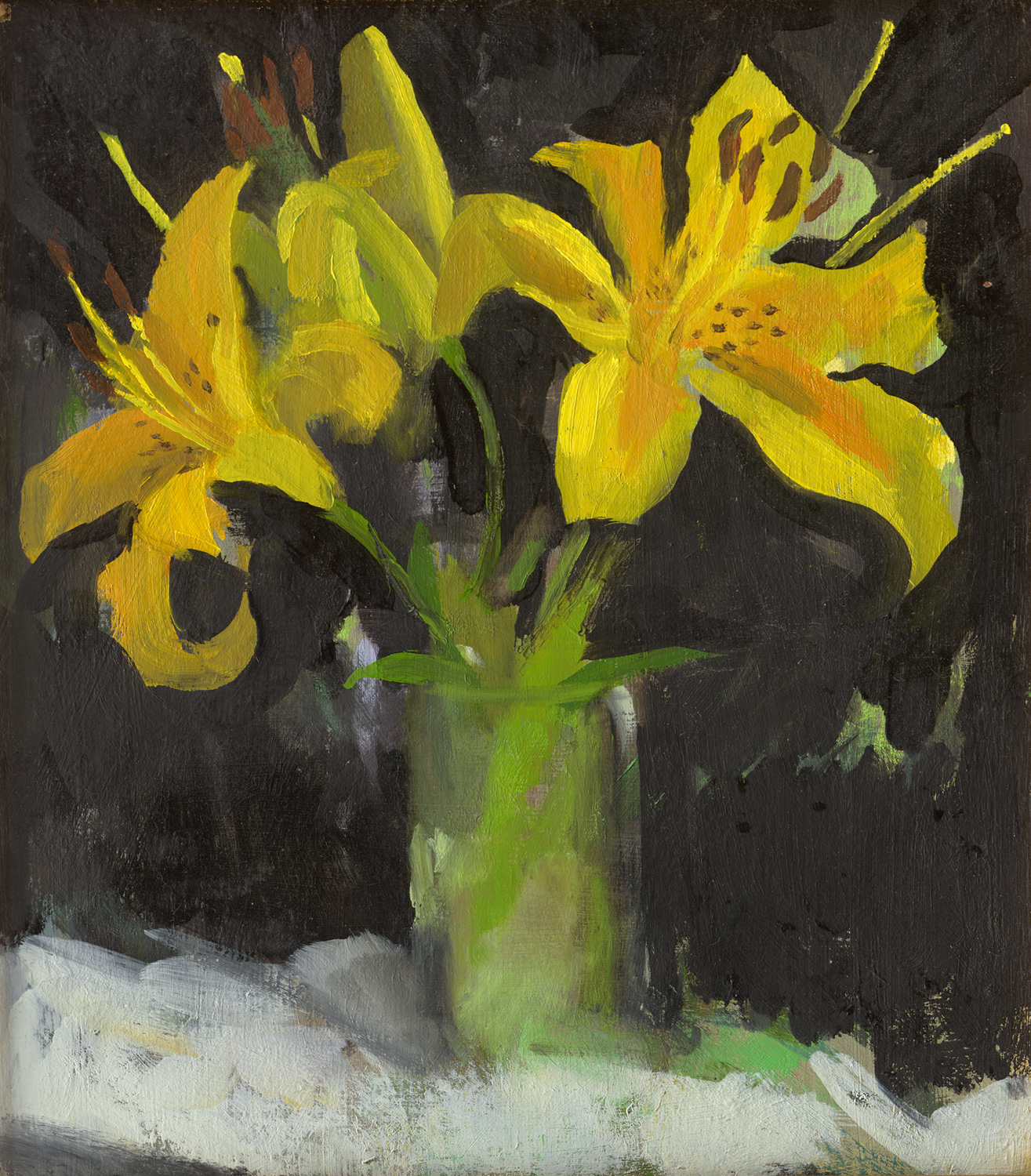 """Three Yelllow Lilies"""