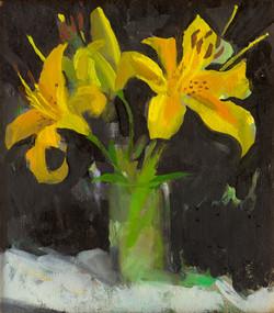"""Three Yelllow Lilies"""