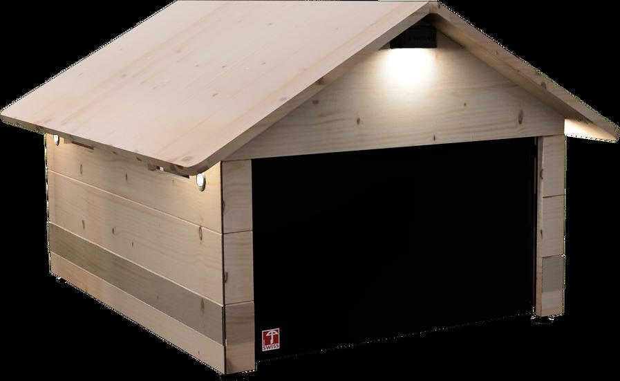 Mähroboter Garage Holz mit Tor für Gardena SILENO city SILENO life SILENO+ smart SILENO+