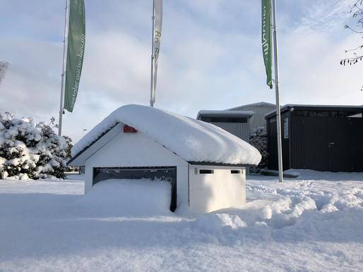 natürlich sind unserer Garagen winterfest :))