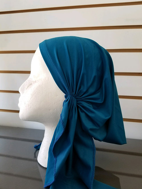 Teal pre tied bandana swim fabric