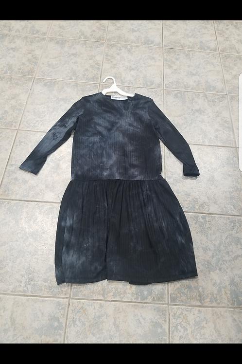 Kids ribbed tie die dress