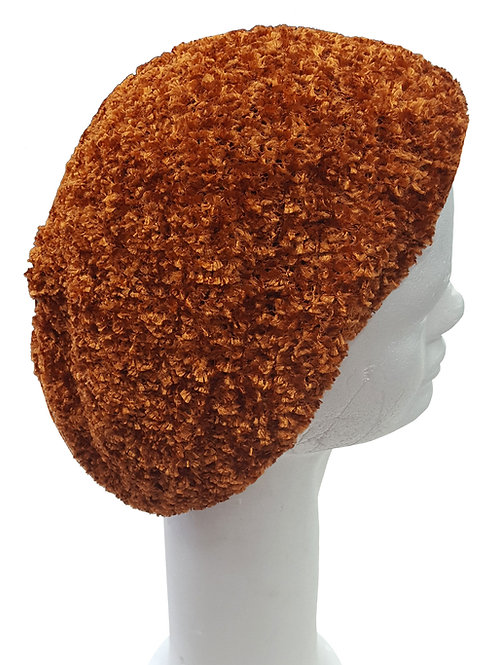 Rust color chenille Snood