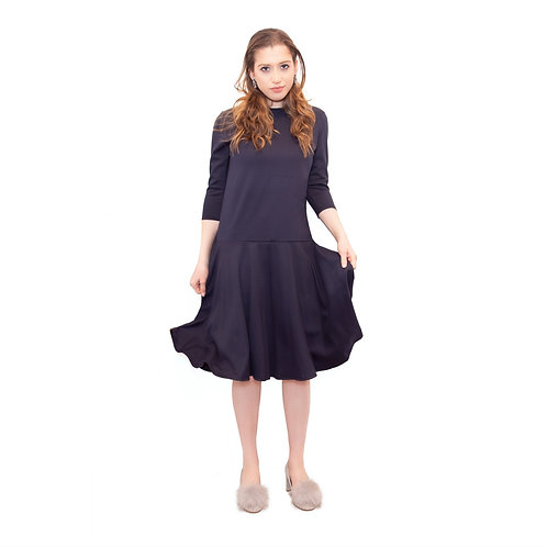 Ladies ponte navy dress