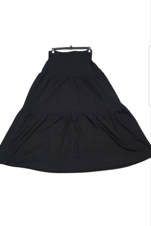 3 tier ribbed skirt
