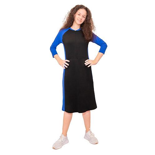 Swim dress with skorts attached