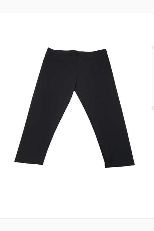 Capri swim leggings (black)