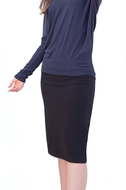 Long sleeve soft rib dolman