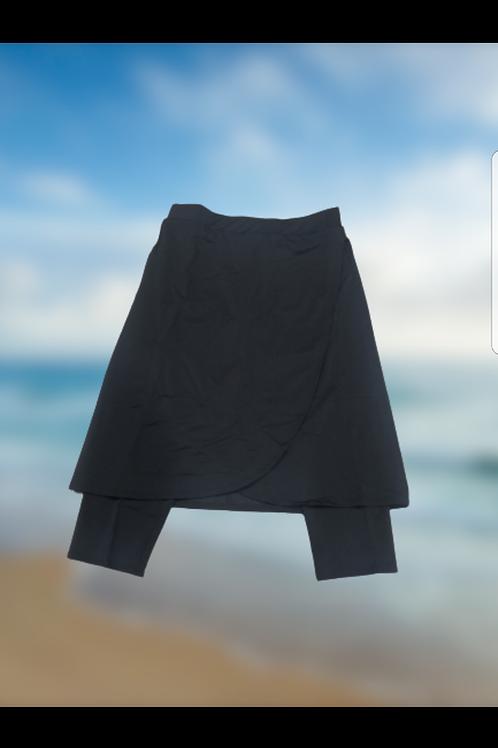 Ladies warp swim skirt with leggings