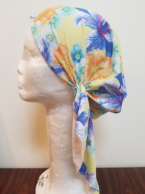 Pre tied bandana swim fabric