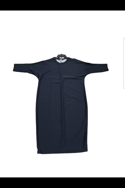 Ladies dark navy denem dolman sleeve swim dress (runs generous)