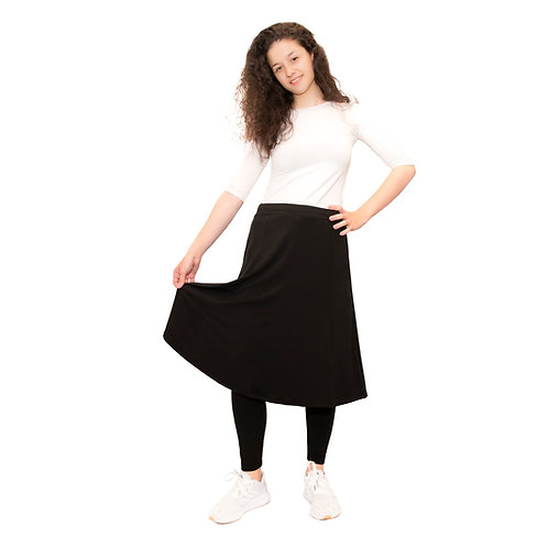 Skirt with long leggings attached